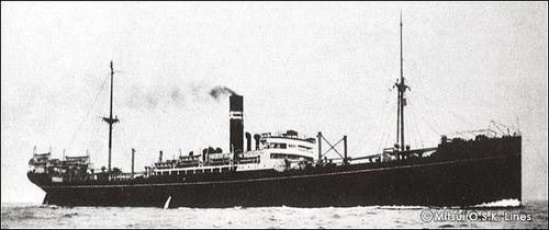 商船三井120年 まにら丸 9519t  1915 大阪商船