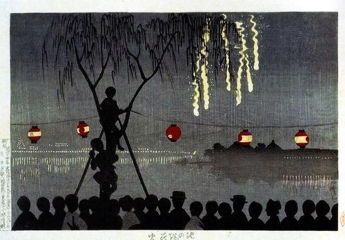 小林清親 池の端花火