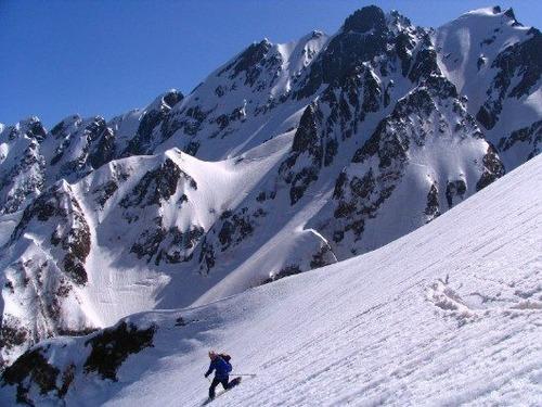 91321089 池の平斜面よりの剣岳チンネの岩峰