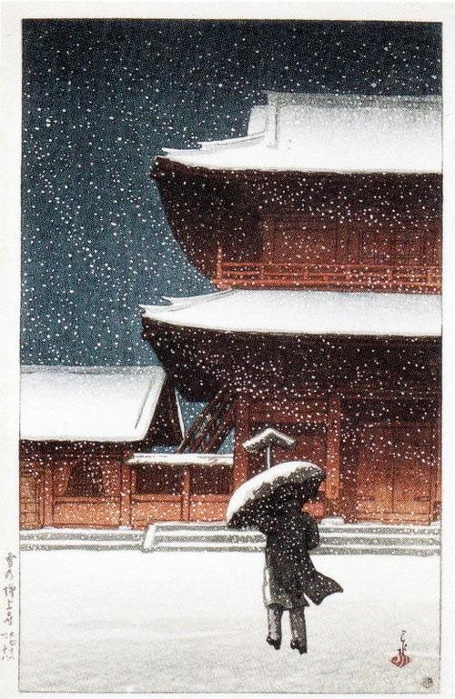 雪の増上寺(大正11 1922 正