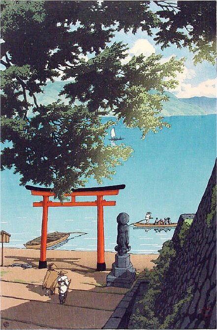 58_Hasui-b 中禅寺湖