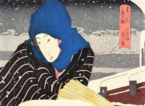 山谷堀夜の雪
