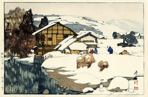柏原の雪(昭和2年)中