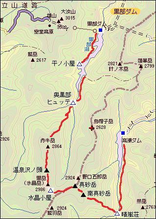 akausidake1 奥黒部地図
