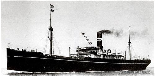 商船三井120年 大阪商船 たこま丸 1909 6176t