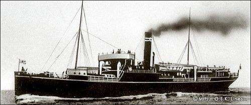 商船三井120年 筑後川丸664t 1890