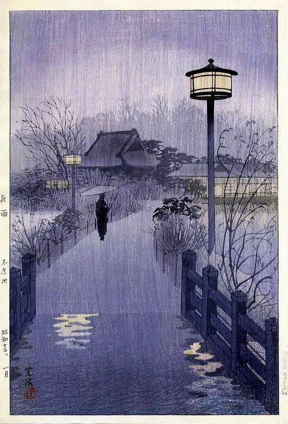 drecom_isao_oのブログ : 笠松紫浪 夜雨