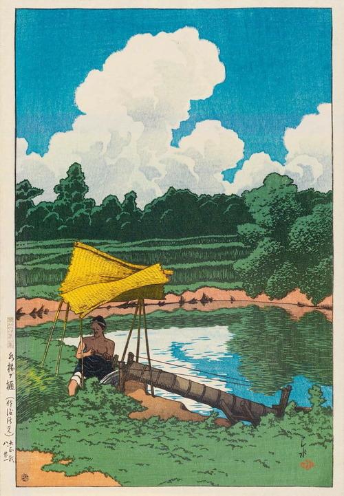 川瀬巴水の世界 水揚げ樋