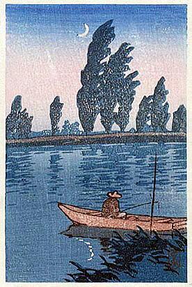 川瀬巴水 boatman 中