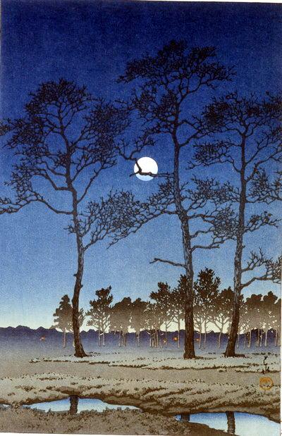 1 冬の月 (戸山ケ原)1931