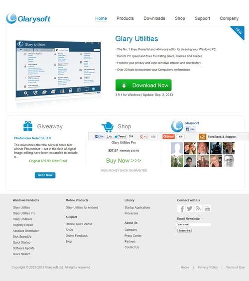 Glaryユーティリティ Glarysoft 1-2