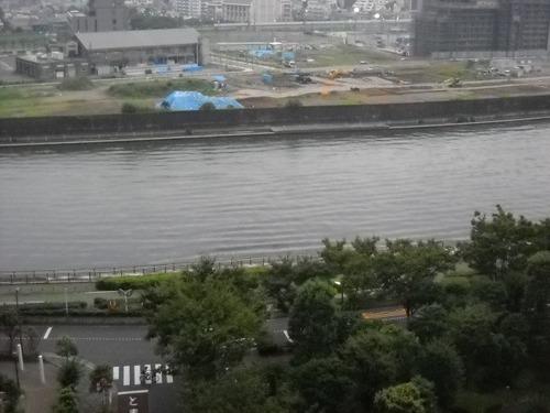 隅田川の川面があ