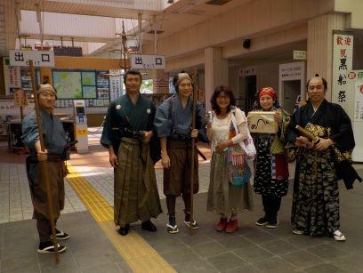 黒船祭り下田駅