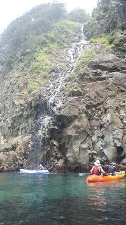 ジオカヤック 滝