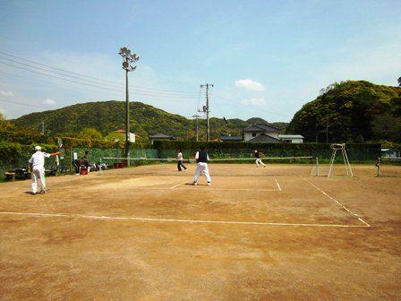 テニス日和 渡嶋・蓑島VS井上・平井