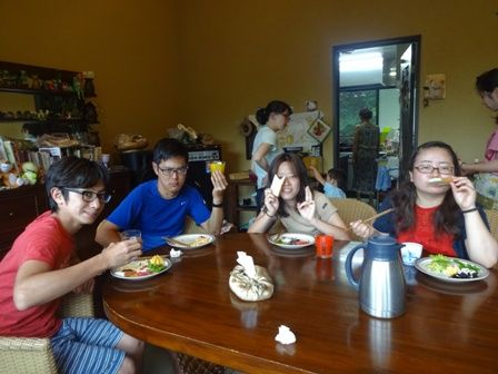 野花ちゃん達朝食