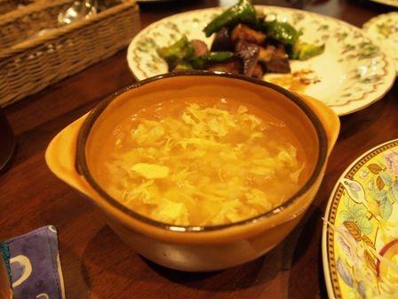 和風だしで作った中華スープ