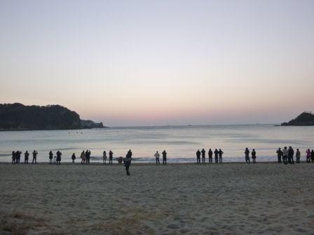 弓ヶ浜 初日の出 前