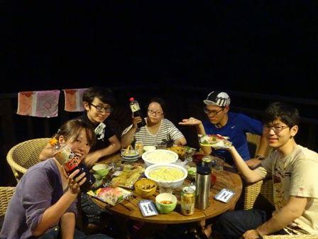 野花達夕飯