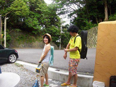 小西さん、妙子さん小稲湾でレレビール