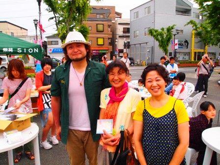 左から、だいじゅさん、良江さん、武重さん