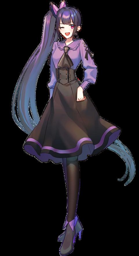 05黒フリル少女5