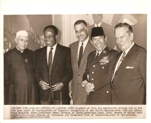 17Nehru, Nkrumah, Nasser, Sukarno & Tito