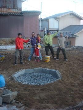 砂場下地完成!