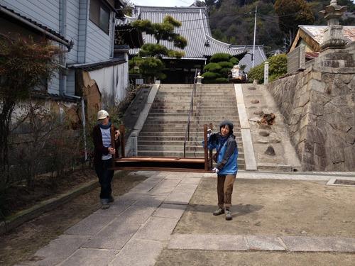 「土嚢の会」 東土堂から長江へお引っ越し手伝い。