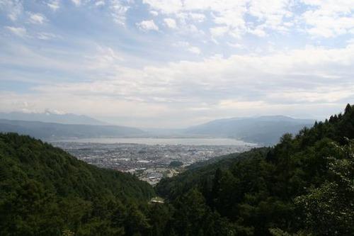 IMG_2154 野尻峠 諏訪湖と八ヶ岳が見える