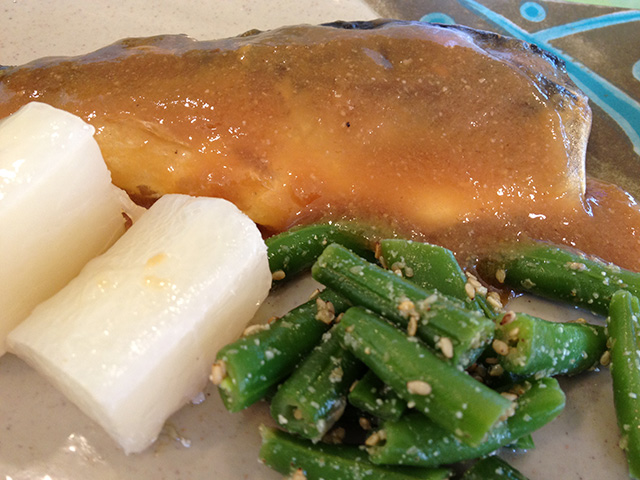 Simmered Mackerel with Miso Sauce