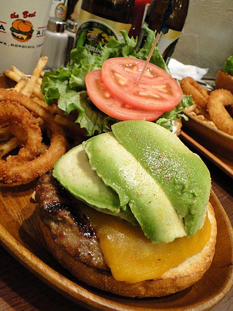 Avocado Cheese Burger Set