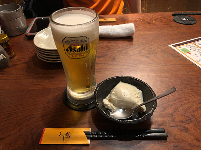 Draft Beer and Tofu