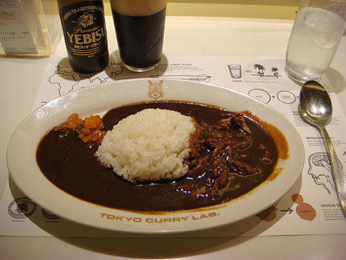 Bitter Beef Curry with YEBISU Black