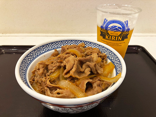 Beef Bowl with Draft Beer