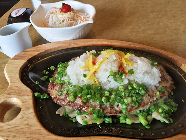 Hamburger Steak with Ponzu Sauce and Grated Japanese Radish