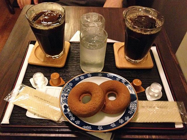 Iced Coffee with Doughnut