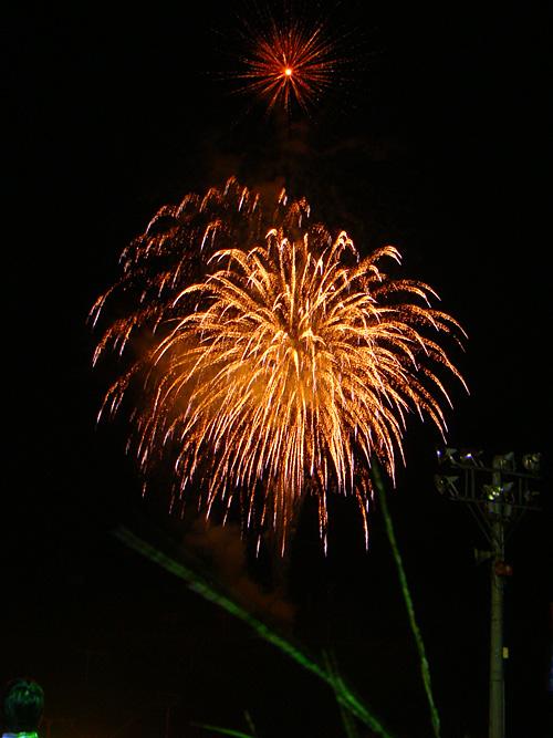 Fireworks at Joetsu Kokusai Ski Resort
