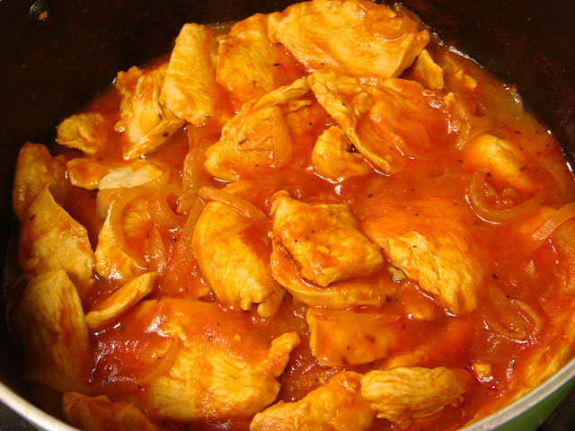 Stewed Chicken with Ketchup