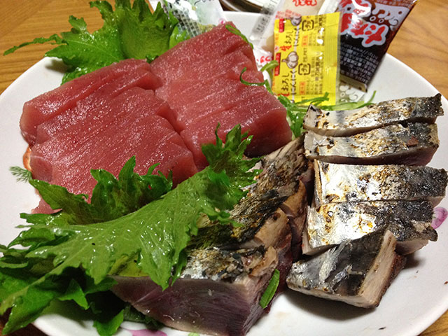 Red Tuna and Bonito Sashimi