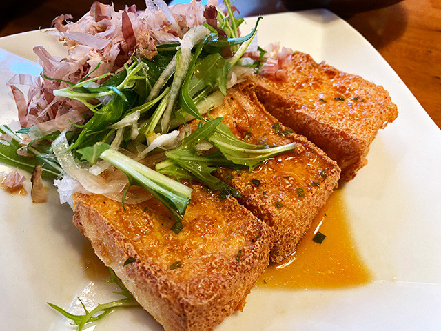 Thick Blocks of Deep-Fried Tofu