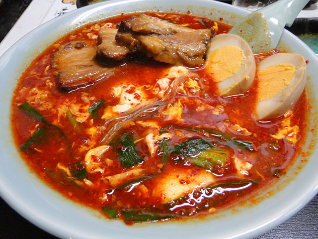 Hot Noodles Level 10 with Thick-Sliced Pork Roast