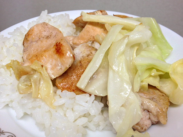 Pan-Fried Chicken and Cabbage
