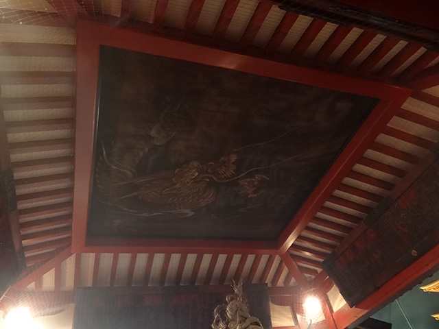 Dragon Painting on the Ceiling