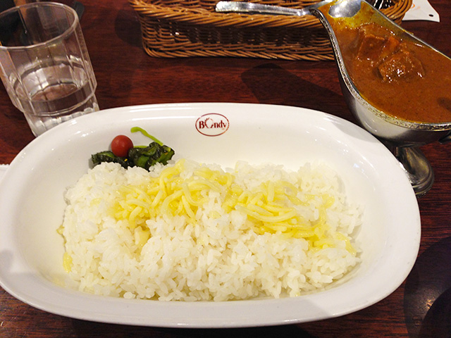 Beef Curry with Rice and Cheese