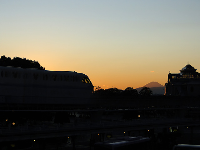 Disney Resort Line and Mt. Fuji