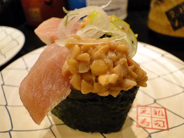Tuna and Natto Sushi