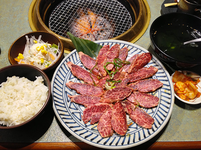 250 g Yakiniku Set Meal of Akamon