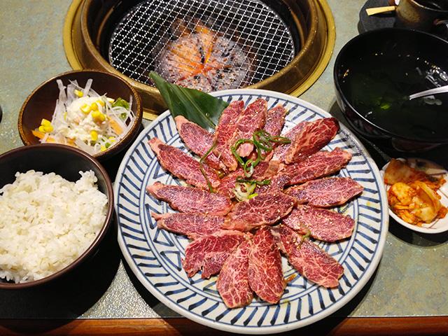 250 g Yakiniku Set Meal of Akamon