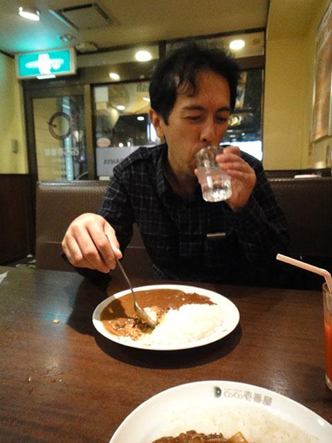 Mr. Hama Having Beef Curry